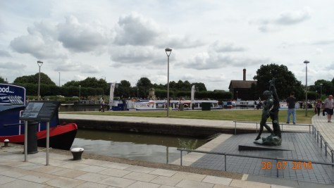 Looking over at the canal basin