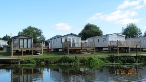 caravan park alongside the river