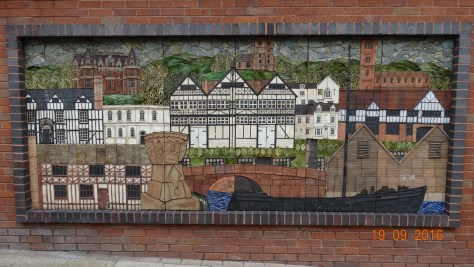 Mosaic in the town