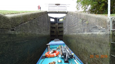 inside one of the staircase locks