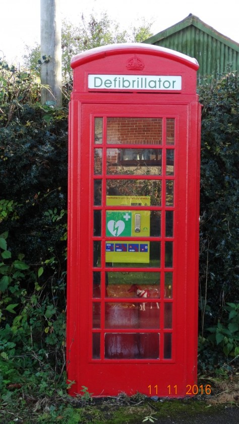 What a surprise, a defibrillator in a redundant phone box; what a good idea.