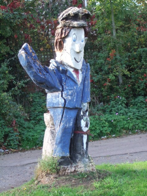 Postman Pat welcoming you to Welford