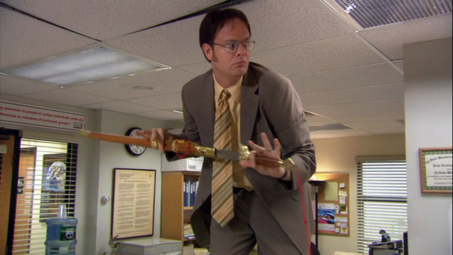 Fact dwight schrute maintains a hidden arsenal of weapons around the
