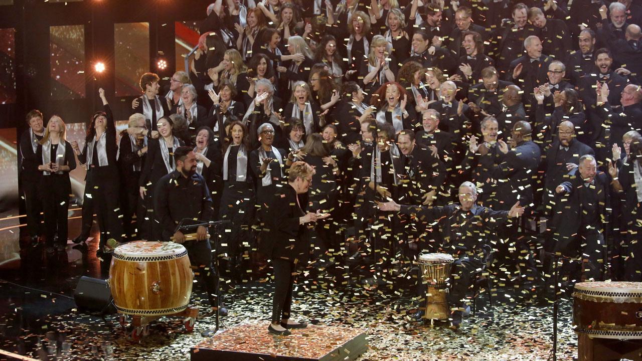 Angel City Chorale earns Olivia Munn's golden buzzer on America's