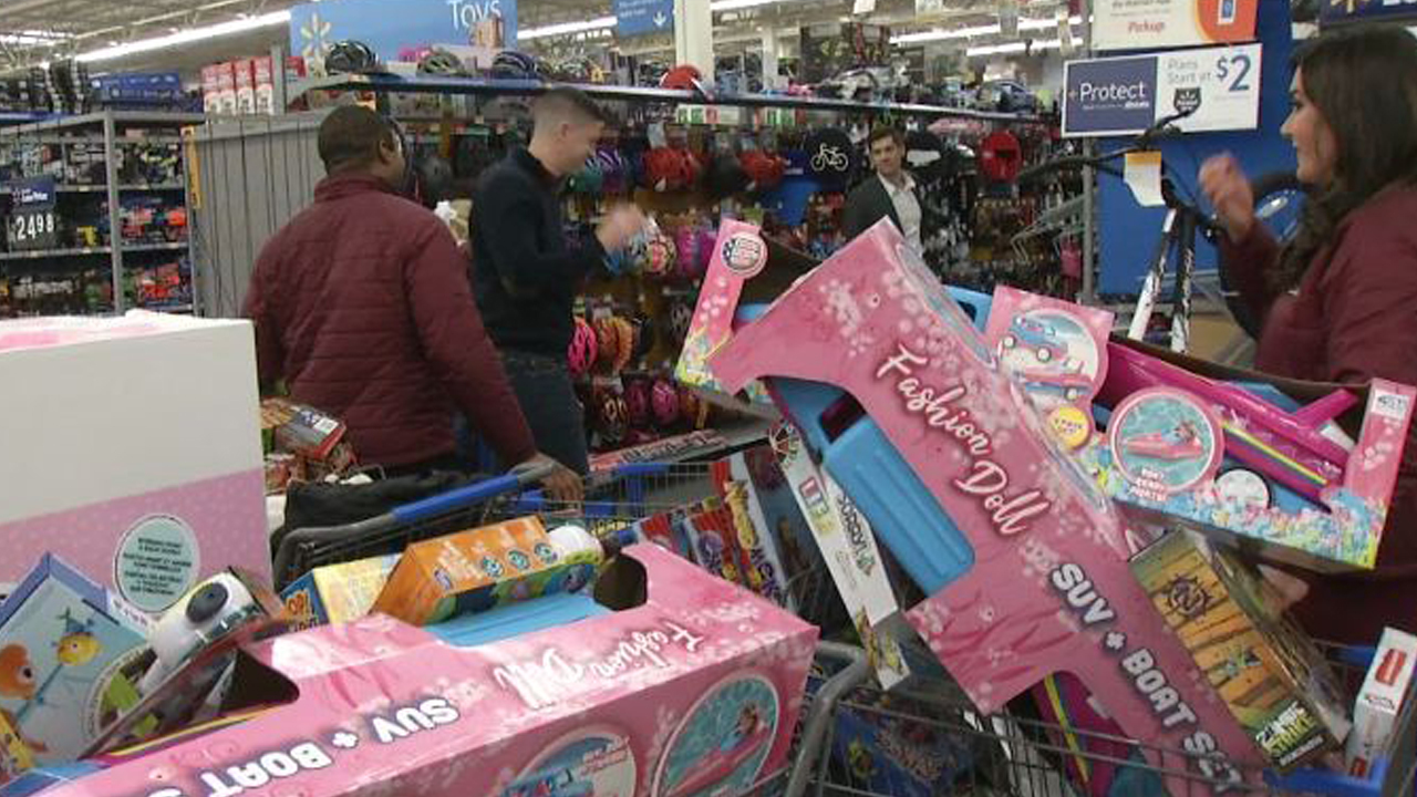 The NBC4 Today crew goes shopping for Firefighters for Kids