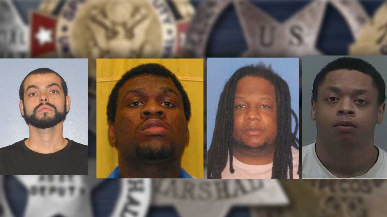 MUGSHOTS: U S  Marshals' 4 most-wanted fugitives in central
