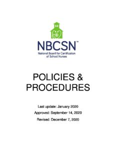 NBCSN Policy Manual – Approved 12.7.20