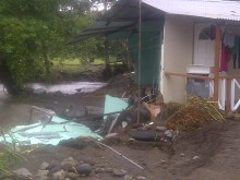 Damage cause by Flash Flood in the Georgetown community on the 24th and 25th December 2013