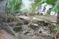 Damage cause by flash Flood in the Buccament Bay Community on 24th and 25th December 2013.
