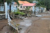 Damage cause by flash Flood in the Cane Grove Community on 24th and 25th December 2013.