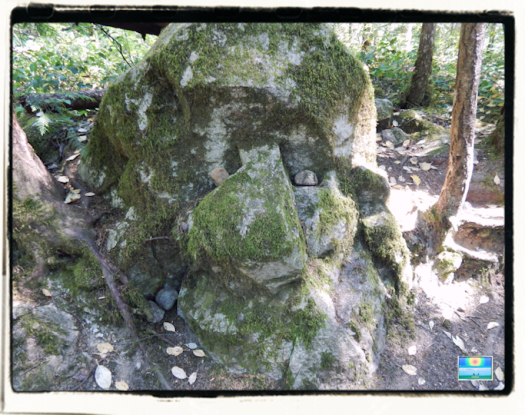 Smiling stone face