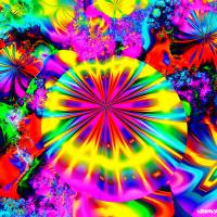 Mushroom garden fractal vibes