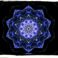 Deep space flower mandala