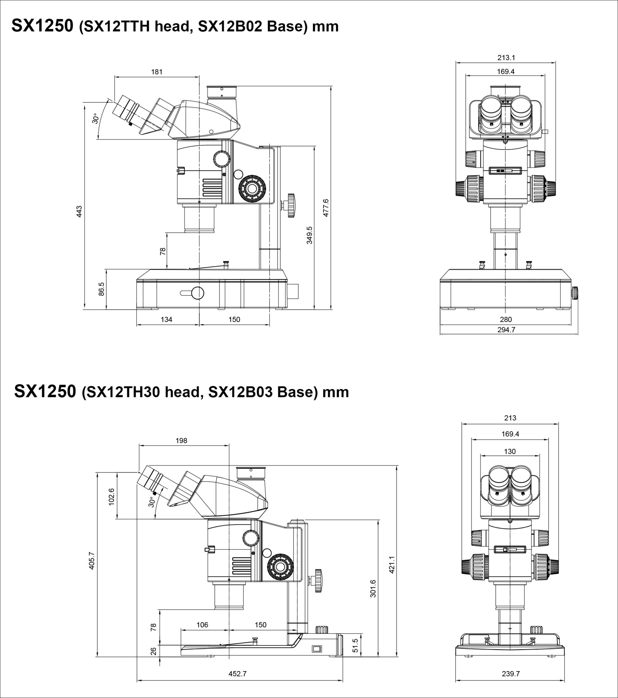 hight resolution of sx1250 product dimensions