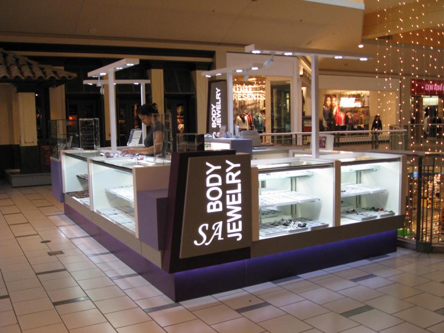 Jewelry Mall Kiosk Displays For Kaylas Body Jewelry