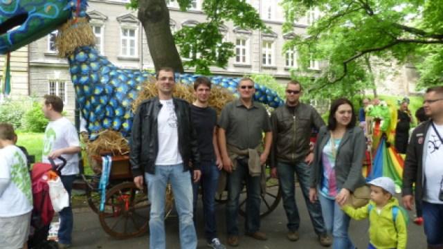 Kinderfest zum 1.6. in der Innenstadt von Krakau
