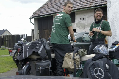 Roman & Christian beim MZ Checkup