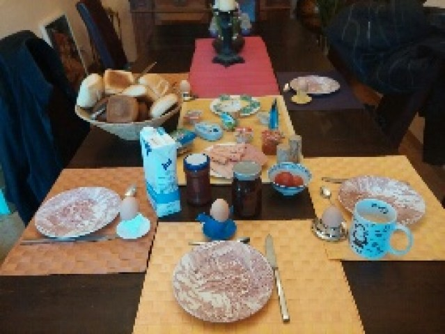 Ein Biker Frühstück