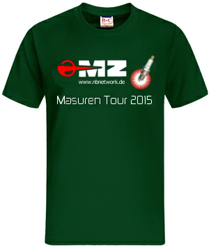 Masuren Tour 2015 Tour Shirt vorn