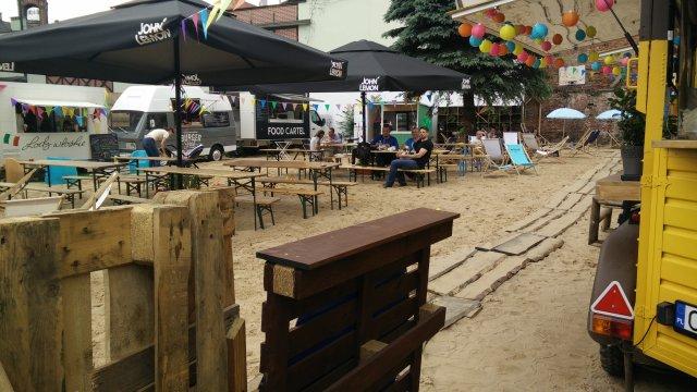 Chill-Lounge-Area mitten in der Innenstadt von Bromberg