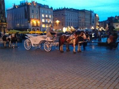 Kutsche auf dem Marktplatz