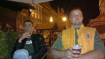 Roman & Jürgen beim nächtliches Chillen