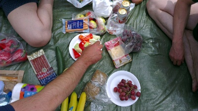 Mit dem Picknick hatten wir 100 Punkte