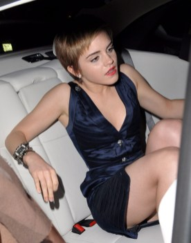 Emma Watson arrives at the Chanel Pre BAFTA party in London