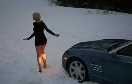 blonde_car_stuck_girl_stuck_in_snow_019