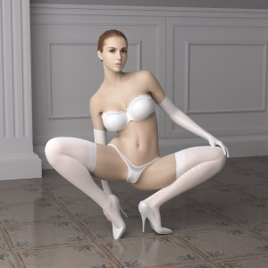 Virtuele bondage (real doll)