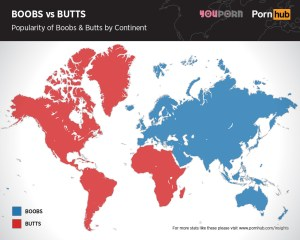 pornhub-boobs-versus-butts-searches-continent