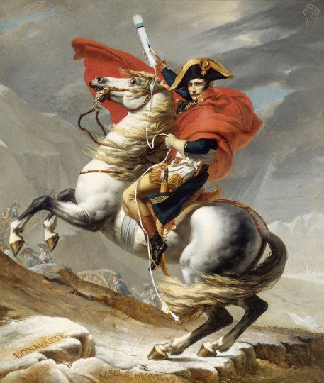 Napoleon-Crossing-the-Alps-with-Magic-Wand-by-Jacques-Louis-David-866x1024
