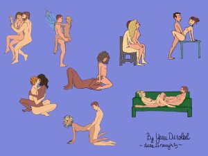 Best positions for using sex toys (illustrated by Yara DuSoleil)