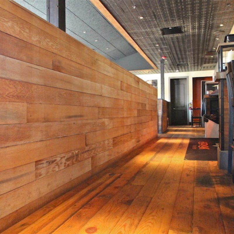 Rough Cut Pine Interior Walls