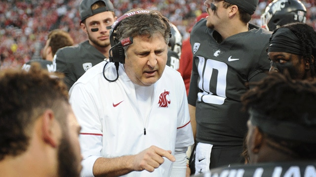 Mike Leach and Washington State went 11-2 in 2018.