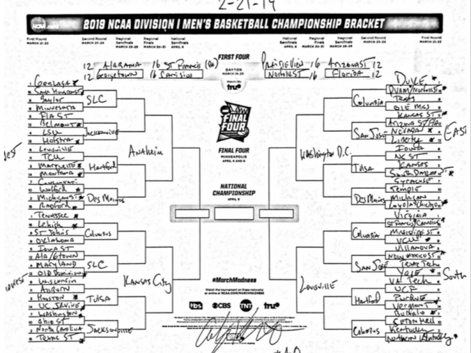 ncaa basketball court diagram 24 volt trolling motor wiring the complete march madness field of 68 predicted less than a month before conference tournaments start com