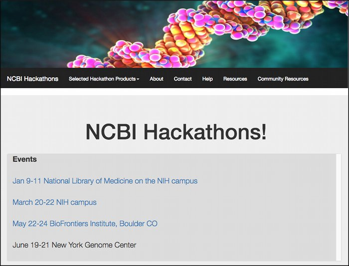 NCBI Hackathons Homepage