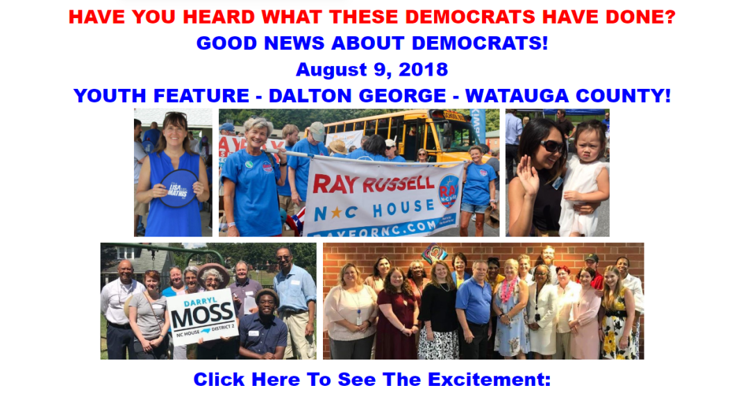 The Good News About Democrats — August 9, 2018