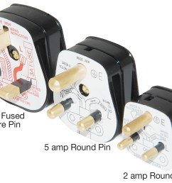 black 2 amp round pin plug click polar wiring accessories wiring diagram for a seven pin round trailer plug wiring a round pin plug [ 2134 x 1583 Pixel ]