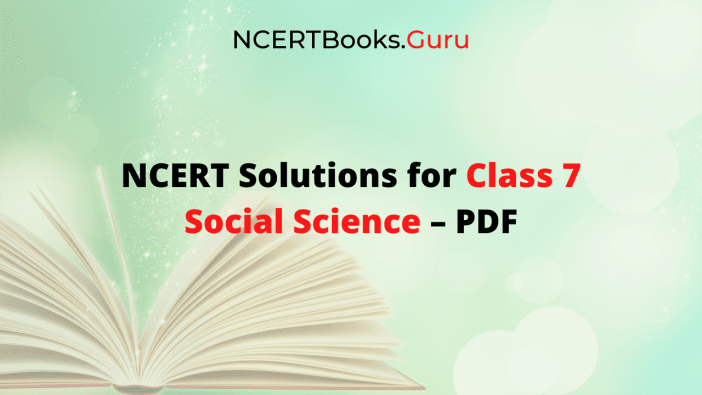NCERT Solutions for Class 7 Social Science PDF