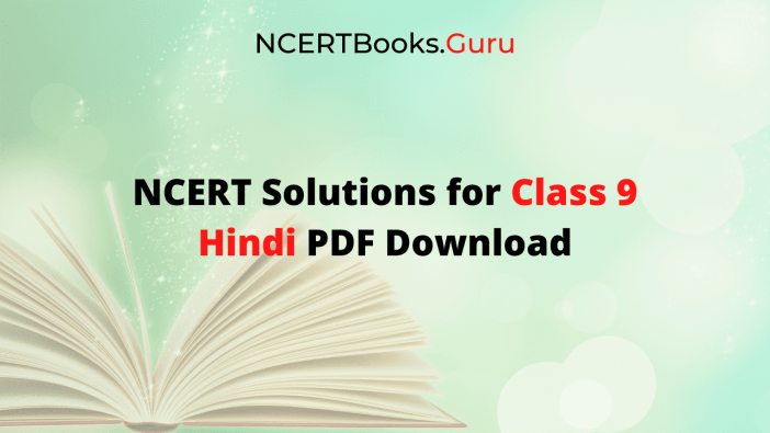 NCERT Solutions for Class 9 Hindi PDF Download