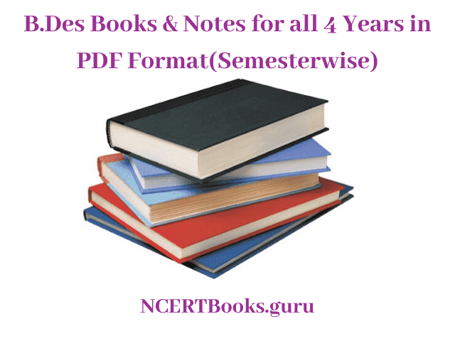B Des Books Notes Free Pdf Download For 1st 2nd 3rd 4th Year