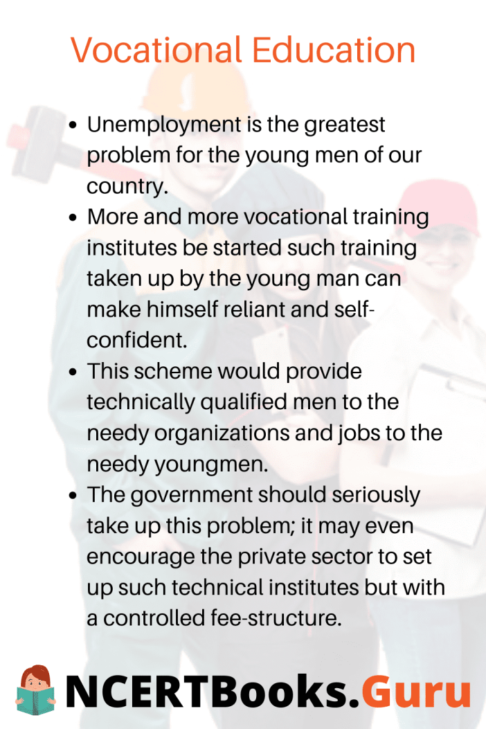 Vocational Education Essay Points to Remember