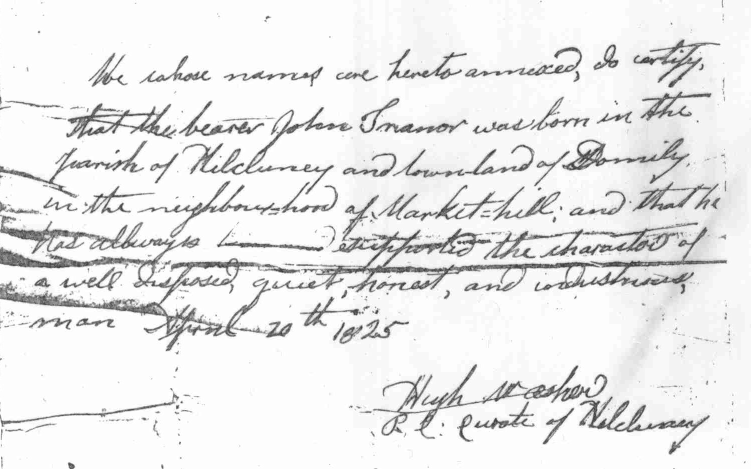 Letter of Recomendation for John Trainor, about to