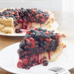 The result: strawberry-blueberry-thyme pie atop Hoosier sugar pie.<br /> Photo Credit: Alex di Suvero for The New York Times