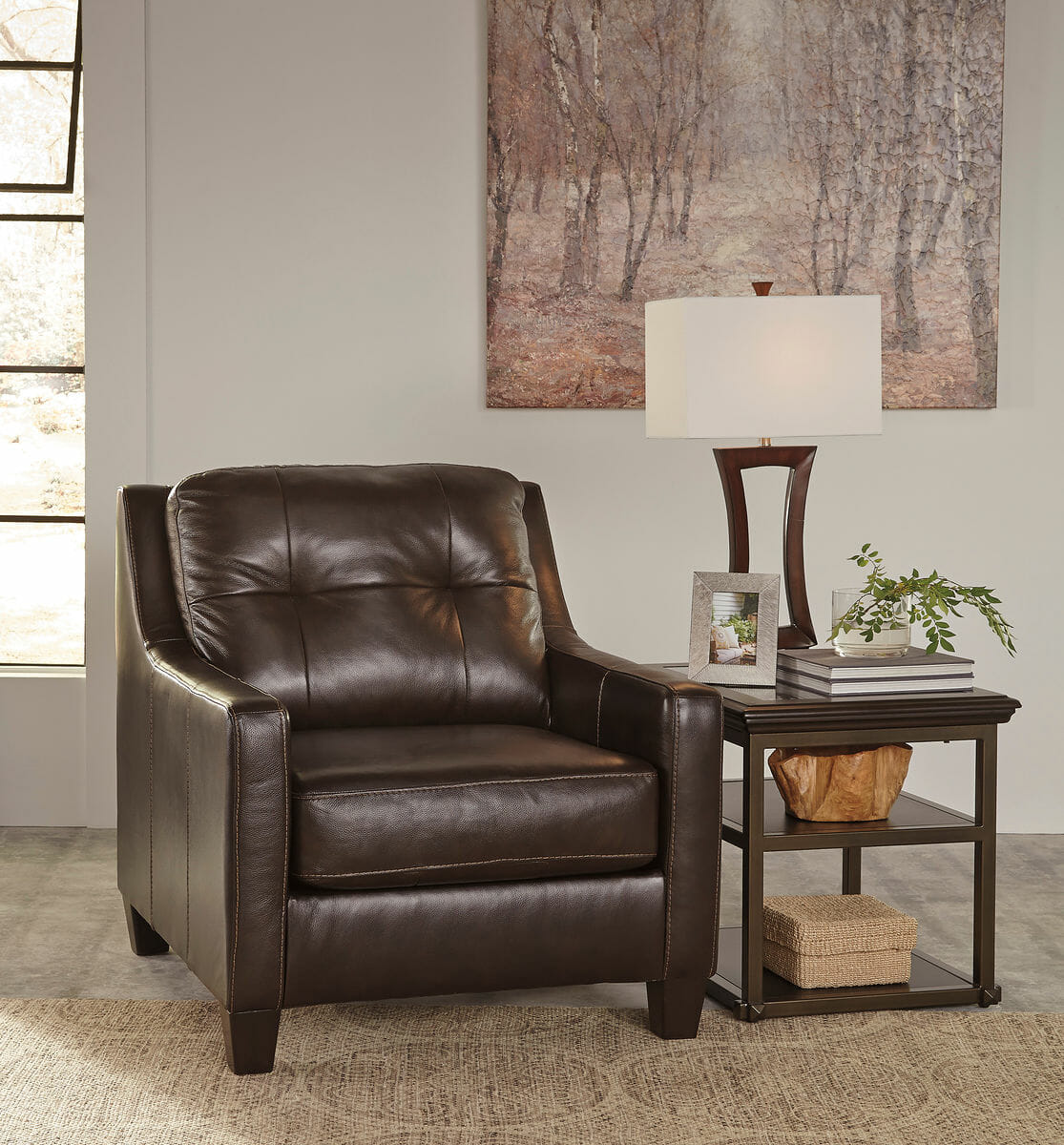 lauren ashley 60 zero wall sofa recliner contemporary sectional with chaise okean mahogany loveseat chair and ottoman nc