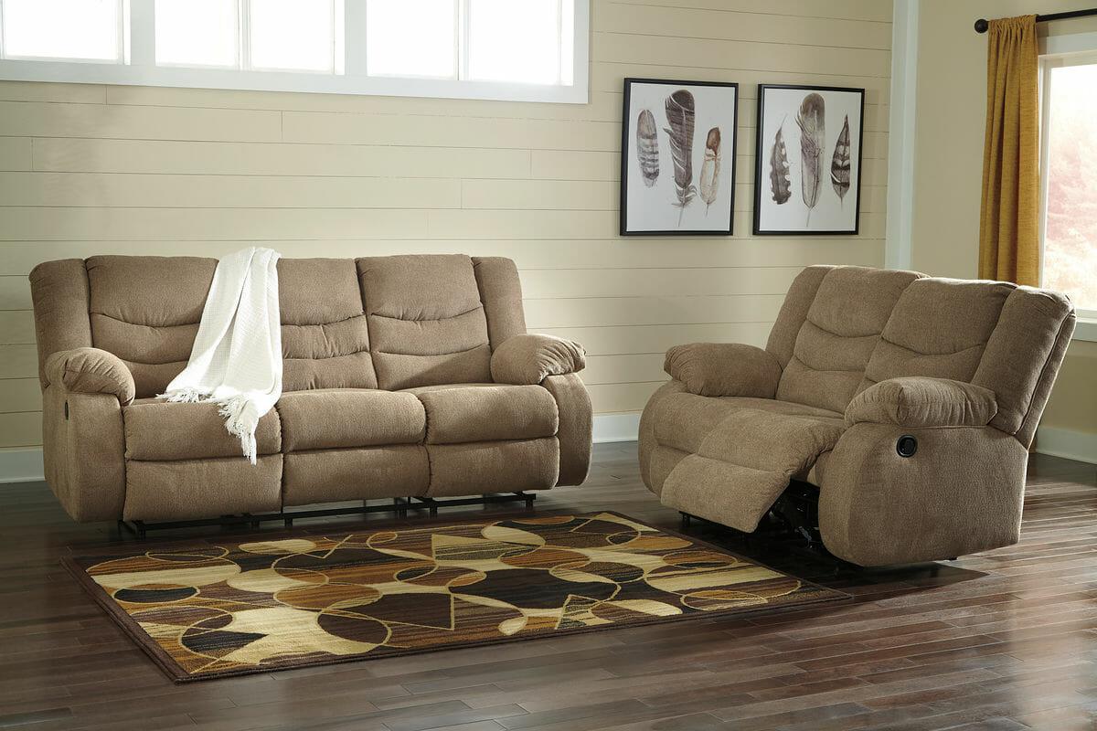 ashley furniture morandi mocha sofa mart lansing mi tulen rec and loveseat nc gallery