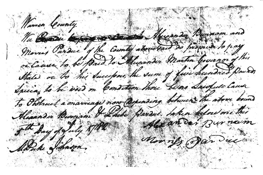Warren Co.NC Marriages 1779-1868