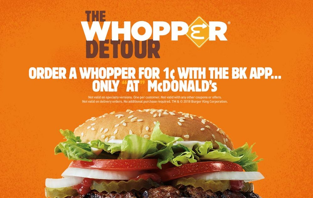 Order a Whopper for a Penny