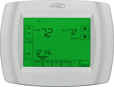 Lennox Comfortsense 5000 Touchscreen Thermostat  North Central Plumbing  Heating LtdSmithers